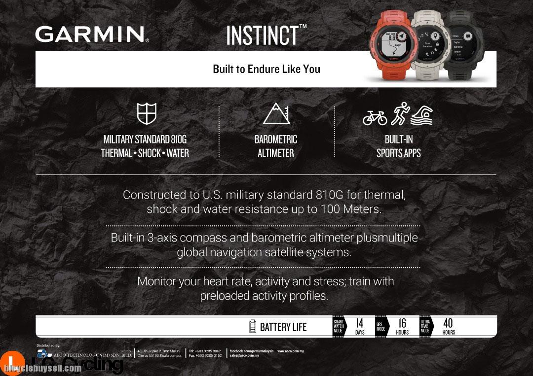 Garmin Instinct GPS Sport Watch with Free Gift
