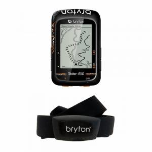 Bryton RIder 450 GPS Cycling Computer, RIDER 450H (Head unit + Bryton Smart Heart Rate Sensor) NEW