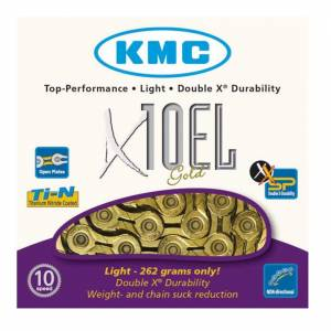 KMC X10-EL TI-NITRATE 10 SPEED CHAIN GOLD