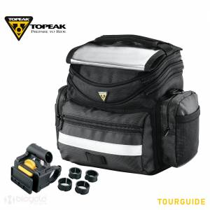 TOURGUIDE HANDLEBAR BAG ART NO: TT3021B 5 LITER CAPACITY RAIN COVER INCLUDES