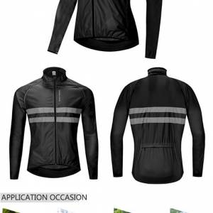 Cycling Jacket High Visibility Jersey Road MTB Bike Bicycle Windproof Quick Dry Rain Coat