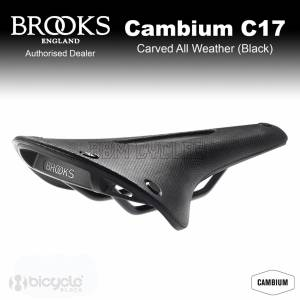 Brooks Cambium C17 Carved All Weather Natural Rubber Saddle Made in Italy black Brooks England