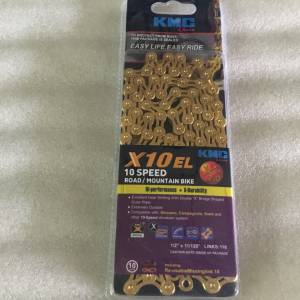 KMC X10EL Hollow Gold Chain @ free pos