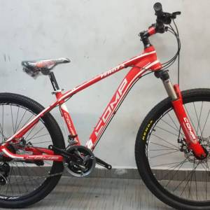 "New Comp 27.5"" Alloy 24SP Shimano Lockout Bicycle Red/White"