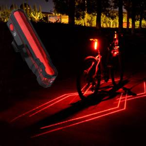 New Cycling Bicycle Spider-man Laser Taillights USB Charging Night Warning Light rear light