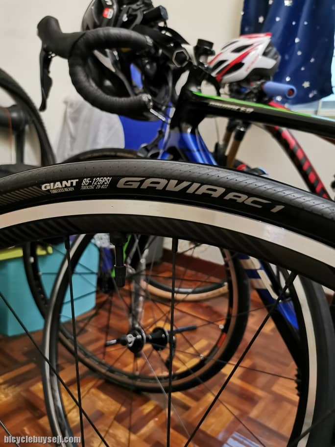 Wheelset Giant PR2 with Tubeless Tire