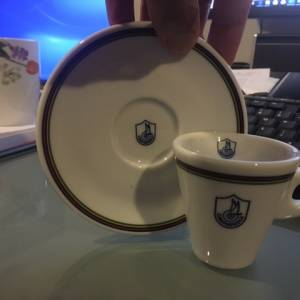 campagnolo espresso cup and saucer (1 pair)