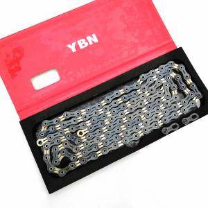 YBN SLA-110 SLA110GB Ultralight Full Hollow 11 Speed ​​Chain Bicycle Chain limited edition