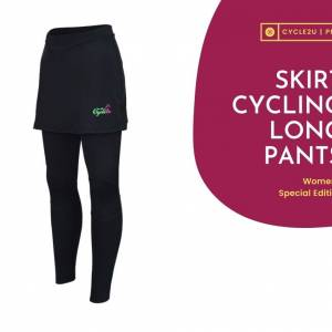 CYCLE2U Ladies Premier Quality Long Cycling Pants with Skirt
