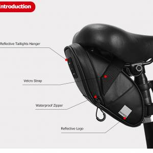 SAHOO Travel Series Absolutely Waterproof Bicycle Saddle Seat Pouch Bag