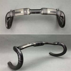 ORIGINAL TOSEEK CARBON AERO + ROUND T800 ROAD HANDLEBAR DROPBAR ROAD GLOSSY ​​​​​​​INTERNAL ROUTING