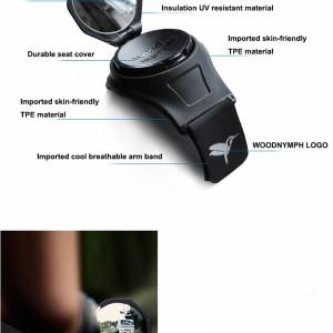 360 Degree Adjustable Replaceable Bicycle Wristband Back Rear View Mirror Bike Cycling Viewfinder Bl