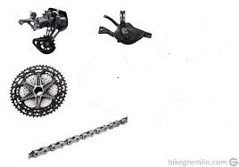 SHIMANO XTR GROUPSET 1x12SPEED (With Chain, RD, CASSETTE, SHIFTER) M9100 M9120 last package set clea