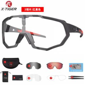 X TIGER Photochromic Polarized Cycling Glasses Outdoor Sports MTB Bicycle Bike Sunglasses Goggles Bi