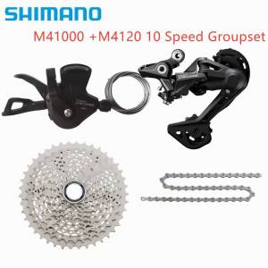 SHIMANO DEORE M4120 M4000 10-speed cassette shifter upgrade 4 in 1 set vg sport kmc M6000 M610