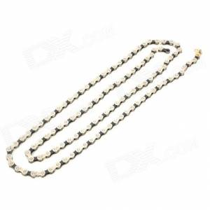 TAYA OCTO BICYCLE 7/8SPEED CHAIN SILVER BLACK 108 LINKS WITH MISSING LINK PINS ROADBIKE MTB