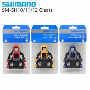 SHIMANO SPD SL ROAD ORIGINAL REPLACEMENT PEDAL CLEAT SET BLUE SM-SH10 2DEGREE / RED SM-SH12 0DEGREE