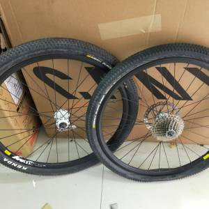 WHEELSET 26 WITH MAVIC RIMS SHIMANO DEORE CASSETE AND KENDA TIRES, WHAT U SEE WHAT U GET. USED 2RIDE